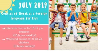 Slovak language for kids in summer 2019